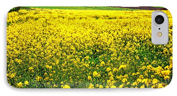 Yellow Field Phone Case by Bill Cannon