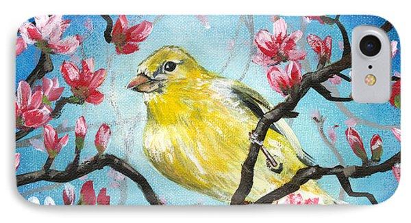 Yellow Finch Bird By Gretchen Smith IPhone Case by Gretchen  Smith