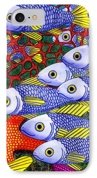Yellow Fins Phone Case by Catherine G McElroy
