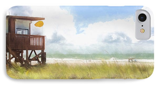 Yellow Flag, Santa Maria Island, Florida IPhone Case by Glenn Gemmell