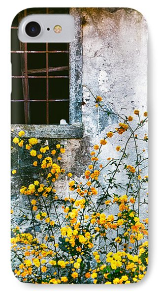 IPhone Case featuring the photograph Yellow Flowers And Window by Silvia Ganora