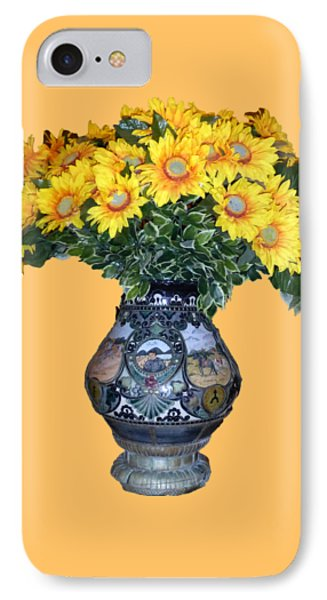 IPhone Case featuring the photograph Yellow Flowers In Vase by Francesca Mackenney