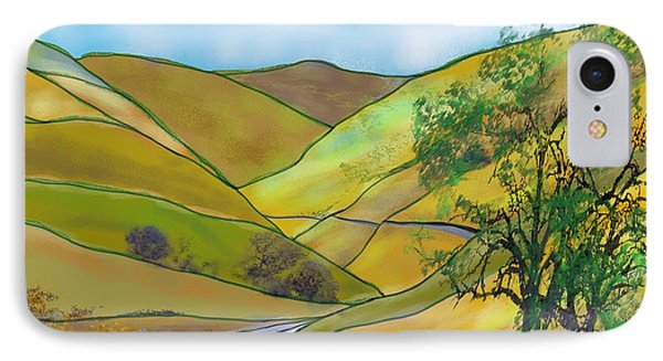 Yellow Foothills IPhone Case
