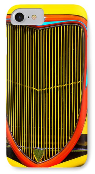 Yellow Ford Hot Rod Grill IPhone Case by Garry Gay
