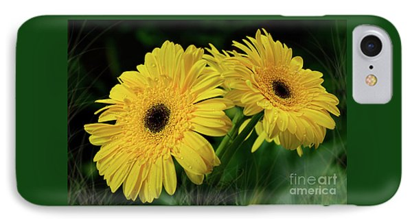 IPhone Case featuring the photograph Yellow Gerbera Daisies By Kaye Menner by Kaye Menner