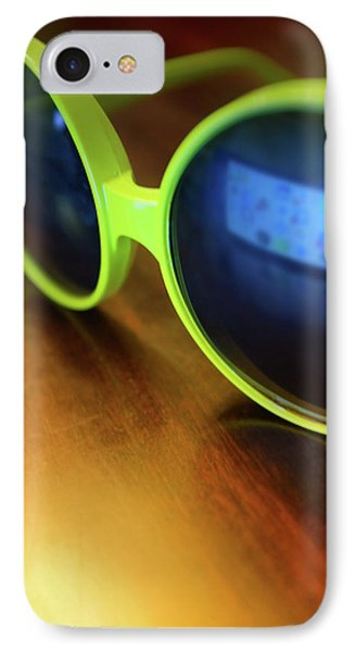 IPhone Case featuring the photograph Yellow Goggles With Reflection by Carlos Caetano