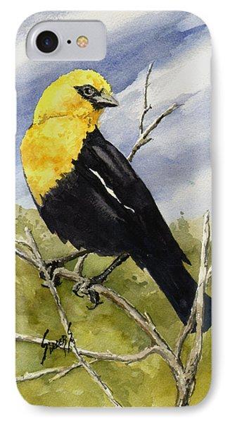Yellow-headed Blackbird IPhone Case by Sam Sidders