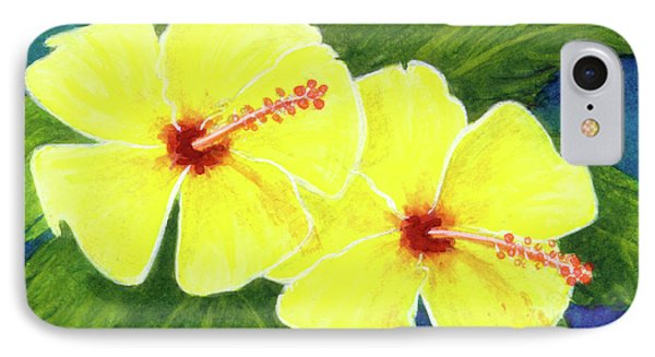 Yellow Hibiscus Flower #292 Phone Case by Donald k Hall