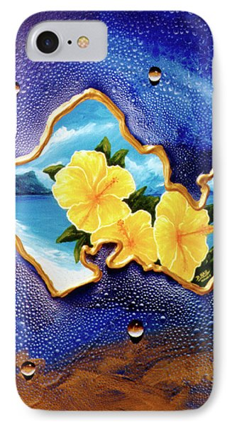 Yellow Hibiscus Hawaii State Flower #142 Phone Case by Donald k Hall