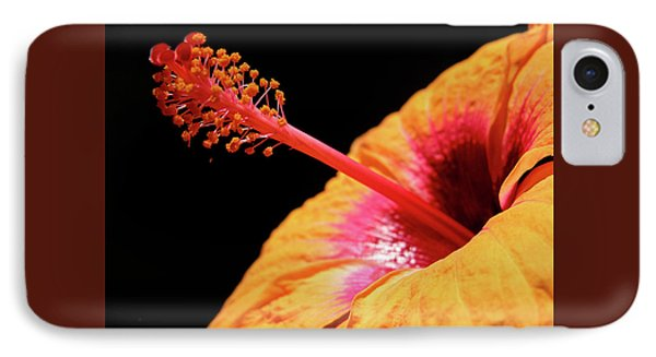 IPhone Case featuring the photograph Yellow Hibiscus by Marie Hicks