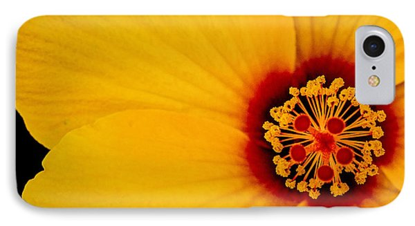 Yellow Hibiscus Squared IPhone Case by TK Goforth