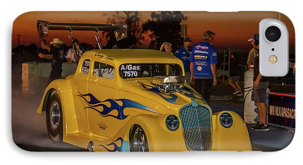 Yellow Hot Rod IPhone Case by Bill Gallagher