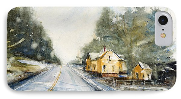 Yellow House On The Right IPhone Case by Judith Levins