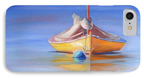 Yellow Hull Sailboat Iv IPhone Case