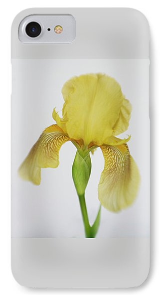 IPhone Case featuring the photograph Yellow Iris A Symbol Of Passion by David and Carol Kelly