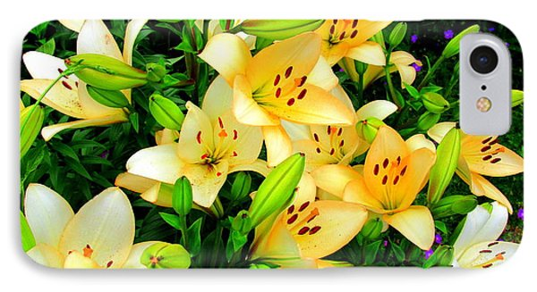 IPhone Case featuring the photograph Yellow Lilies 2 by Randall Weidner