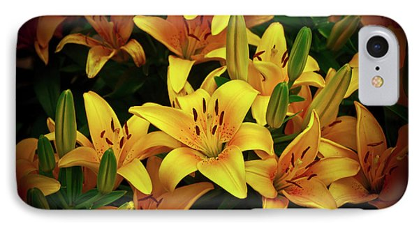 IPhone Case featuring the photograph Yellow Lilies by Joann Copeland-Paul