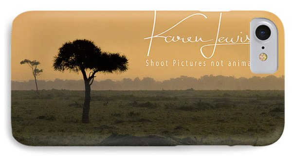 IPhone Case featuring the photograph Yellow Mara Dawn by Karen Lewis