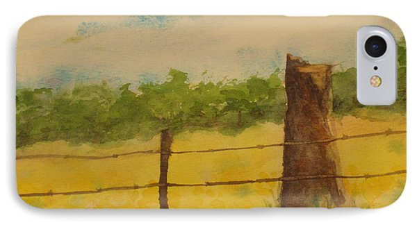 IPhone Case featuring the painting Yellow Meadow  by Vicki  Housel