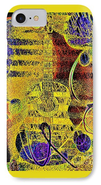 Yellow Mood  And Guitar IPhone Case by Jasna Gopic