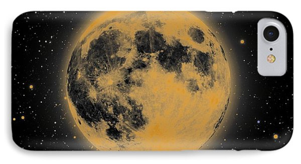 Yellow Moon IPhone Case by Thomas M Pikolin