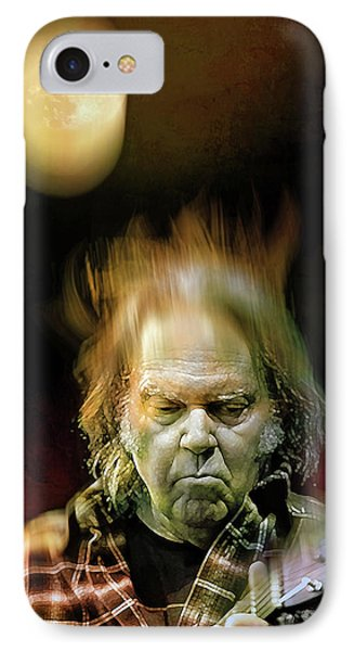 Yellow Moon On The Rise IPhone Case by Mal Bray