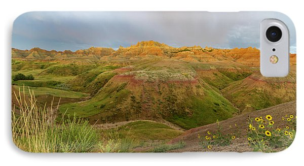 Yellow Mounds Morning IPhone Case