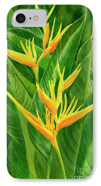 Yellow Orange Heliconia With Leaves IPhone 7 Case