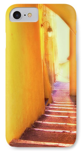 IPhone Case featuring the photograph Yellow Passage  by Harry Spitz