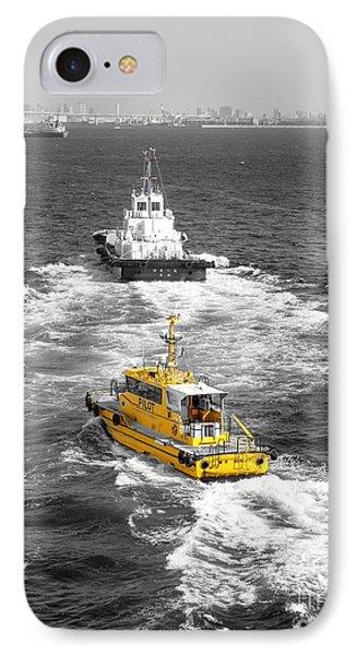 Yellow Pilot Yokohama Port IPhone Case