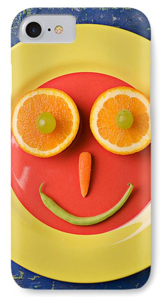 Yellow Plate With Food Face IPhone 7 Case