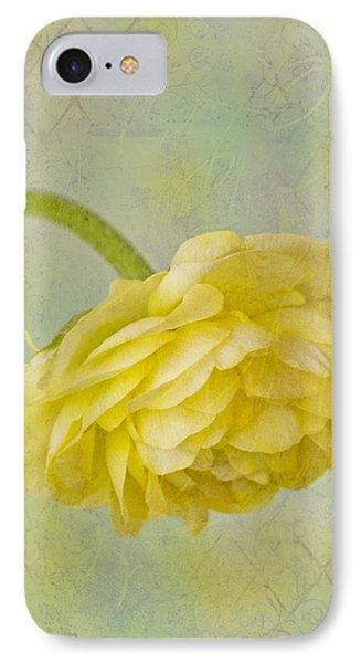 Yellow Ranunculus Macro Phone Case by Sandra Foster