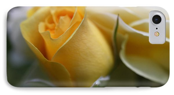 Yellow Rose Bud Flower Phone Case by Jennie Marie Schell
