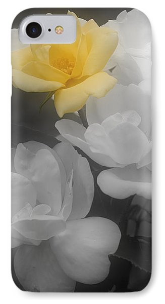Yellow Rose Cluster Partial Color IPhone Case by Smilin Eyes  Treasures