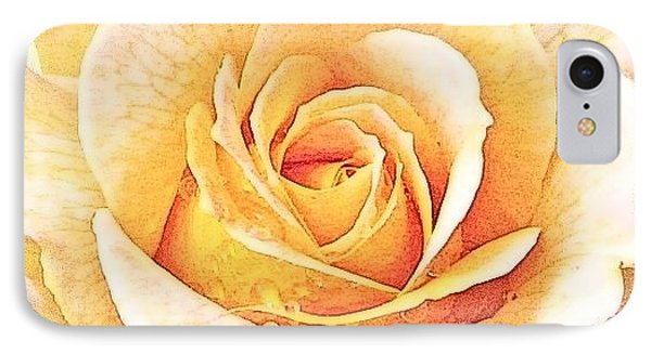 IPhone Case featuring the photograph Yellow Rose by Karen Shackles