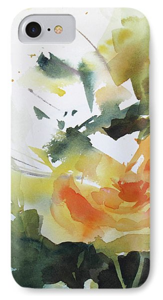 Yellow Rose Phone Case by Rae Andrews