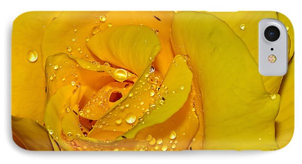 Yellow Rose With Droplets By Kaye Menner IPhone Case