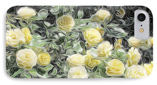 Yellow Roses IPhone Case by Carol Crisafi