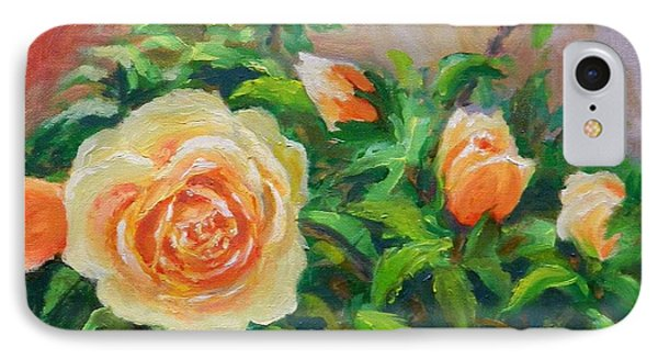 Yellow Roses IPhone Case by William Reed