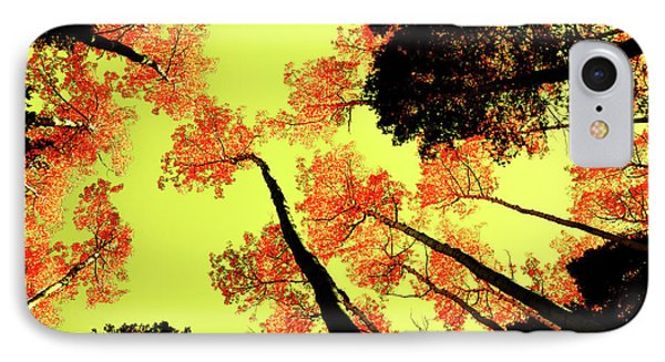 Yellow Sky, Burning Leaves IPhone Case by Kevin Munro