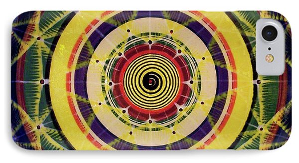 IPhone Case featuring the painting Yellow Spiral by Kym Nicolas
