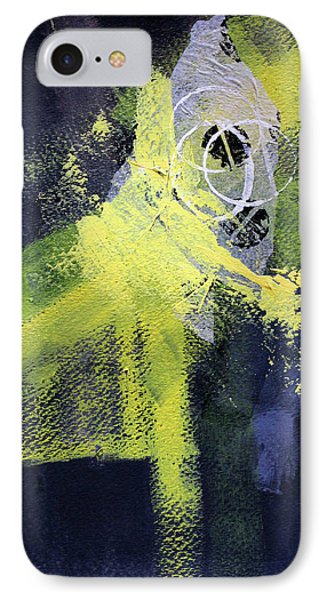 IPhone 7 Case featuring the painting Yellow Splash by Nancy Merkle