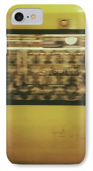 IPhone Case featuring the photograph Yellow Subway Train by Ivy Ho
