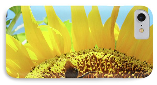Yellow Sunflower Art Prints Bumble Bee Baslee Troutman Phone Case by Baslee Troutman