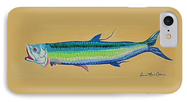 Yellow Tarpon IPhone Case by Anne Marie Brown