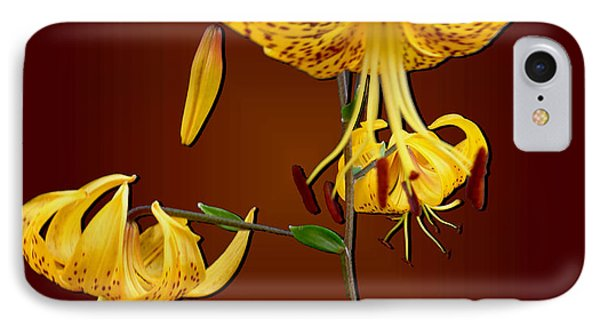 Yellow Tiger Lilies Phone Case by Tara Hutton