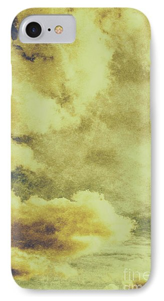 Yellow Toned Textured Grungy Cloudscape IPhone Case by Jorgo Photography - Wall Art Gallery