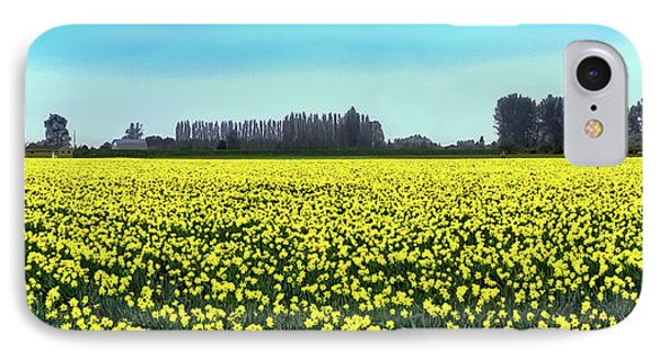 Yellow Tulip Fields IPhone 7 Case by David Patterson
