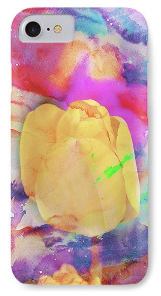 Yellow Tulip IPhone Case by Toni Hopper