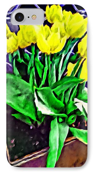IPhone Case featuring the painting Yellow Tulips by Joan Reese